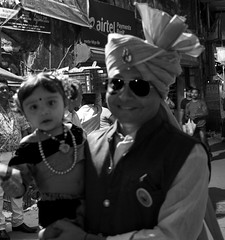 Father daughter bonding (magiceye) Tags: street streetphoto streetportrait monochrome blackandwhite bnw koli holi vesave versova mumbai india festival