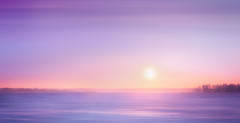 Snowy desert (Alexander Tumashov) Tags: sunset dusk twilight sunrise dawn dramatic sky evening jetty reflection moody clouds sun blue travel landscape winter frost blizzard