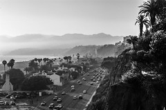 Mountains, Beach, Condos, Freeway, Palms (cmctaggs) Tags: california dreaming malibu santa monica montica pier peer peir beach susnet rodeo blvd famous celebrities homeless life bum bike dog puppies cute amateur street candid art sunset cemetery cemetary westwood hollywood puppy yorkie explored nikon d7100 prime lens 50mm bokeh cali vapor wave aesthetic weed 420 bruh idk