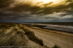 East coast Norfolk UK (nature | landscape photography) Tags: sky beach sea sand canon cloud sun grass norfolk coast