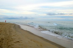 Fisher on the Outer Banks, North Carolina. (Karen Molenaar Terrell) Tags: outerbanks northcarolina beach atlanticocean waves sand dunes duck