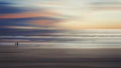 Only us (charhedman) Tags: oregoncoastroadtrip beach aboyandhismotherwhowascarryinghisbucketandshovel motionblur sand water canon6d sunset hose wonderful layers