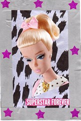 Superstar Forever (booboo_babies) Tags: barbie barbiedoll doll oldschool blonde ponytail mailart collage handmade