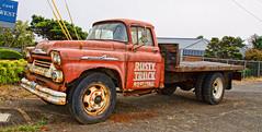 Rsty Truck (creepingvinesimages) Tags: htt truck rust chevrolet 60 viking worktruck rustutruckbrewingco hwy101 lincolncity oregon nikon d7000 pse14 topaz