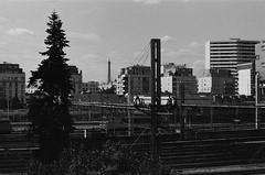 Tour Eiffel (bbplwp) Tags: paris tour eiffel tower rails urbain ville paysage noirblanc noir blanc blackwhite argentique analog