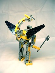 Blomidon Mk1 - gargoyle loadout, back (awpulley) Tags: lego moc creation space robot scifi articulated wings tail scorpion axe