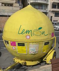 Traveling lemon stand (Alaskan Dude) Tags: tassliema malta mt travel europe valletta art iphone iphone6photo