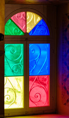 Ypapanti Church window (Rupert Brun) Tags: 2016 greece greek holiday ionian island paxos kerkira peloponnisosdytikielladakeio peloponnisosdytikielladakeionio gr ypapanti ipapandi ipapanti church interior record shot