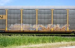 Break/When (quiet-silence) Tags: graffiti graff freight fr8 train railroad railcar art break when ta asp autorack cn canadiannational