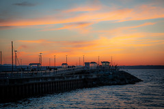 Summer Sunset (NW Vagabond) Tags: edmonds fishing pier pugetsound sunset water 2018 washington state rocks breakwater