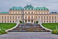 Belvedere (wagnerchristian.com) Tags: bevedere austria palace architecture travel baroque history historic waterfall water garden centered windows sunset evening park