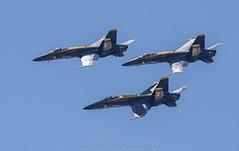 Blue Angel Tri Formation (Scott_Nelson) Tags: seattle washington unitedstates us seafair aircraft airplanes airshow boeingfield