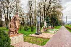 Vladikavkaz, Russia -  april 16, 2017: park region North Ossetia memorial complex with walkway (trinh_huong_ocean) Tags: complex sculpture 9 may soldier memorial military monument russia ingushetia anniversary architecture army background battle built caucasus celebration cultures day destinations eternal event exterior forces glory great history holiday landmark layout motherland nine outdoors patriotic peace place post postcard soviet statue symbol tourism travel veteran victims victory war warrior winner vladikavkaz city capital russian