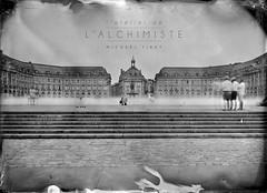 Tintype-5x7-Place de la Bourse-alchimiste (latelierdelalchimiste) Tags: wetplate collodion collodionhumide architecture bordeaux latelierdelalchimiste tintype ambrotype