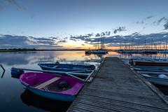 Blue'n'Purple (Myanoli) Tags: cospudenersee lake cospuden leipzig see sunset sonnenuntergang wasser water boats boote segelboote purple violett sonne sun sky himmel canon