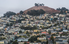 bernal heights from george christopher (pbo31) Tags: sanfrancisco california nikon d810 august 2018 summer boury pbo31 city urban color bernalheights rooftops glenpark over view neighborhood muni motionblur traffic houses