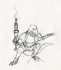 sc0216 (Josh Beck 77) Tags: drawing doodle sketch scifi sciencefigure fantasycreature oc originalcharacter