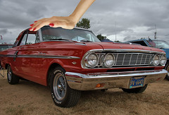 Her Little Car (Scott 97006) Tags: car automobile vintage ford fairlane antique beauty hand nailpolish humor