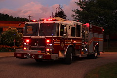 14 Engine 1 nearing blue hour (cheliman) Tags: seagrave hvfd hydetown dept14 fighting14 engine fireengine firetruck evening canon t3i
