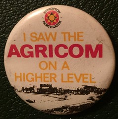 EDMONTON NORTHLANDS AGRICOM ---PIN BACK BUTTON (woody1778a) Tags: edmonton edmontonhistory alberta canada pinback button history mycollection myhobby