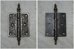 """Cast Antique Hinge - 3"""" x 3½"""" (05863) (The Door Store) Tags: vintage salvage antique reclaimed original unique used period era classical traditional aged historic old oldfashioned worn secondhand rustic door store doorstore thedoorstore toronto ontario canada"""