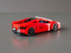 Aventador Roadster (Jerry Builds Bricks) Tags: lego lamborghini aventador roadster