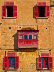 Red balcony and, windows ... (Emu Alim) Tags: malta valletta red balcony windows sony a7r3 architecture