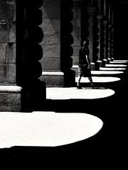 Giochi di luce (Gianluca De Dominici) Tags: light shadow sofia architecture street olympus cut person people