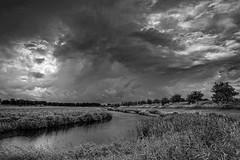 Rain is coming (Photodoos) Tags: canonnl zeeland zierikzee landscape clouds rain monochrome