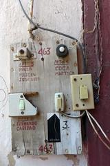 The Doorbells (TablinumCarlson) Tags: amerika america karibik caribbean sea gulf atlantic ocean cuba republic antilles havanna havana habana leica kuba dlux 6 tür door entry klingel bell doorbell 463