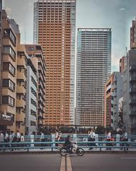 After Work (·Nico·) Tags: tokyo japan shibaura cityscape building bridge bike people fujifilm xt20 xf23mmf2 xf23mm