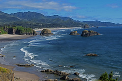 DSC_2246 ~ Ecola Point, Ecola State Park, OR (stephanie.ovdiyenko) Tags: ecolapoint ecolastatepark oregon cannonbeach pacficocean pacificcoast pacificnorthwest ocean coast rockyshoreline landscape
