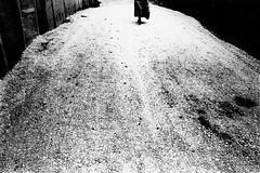 road 722 (soyokazeojisan) Tags: japan osaka road street bw city people blackandwhite monochrome anaiog olympus om2 28mm film trix kodak memories 昭和 1970s 1975