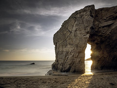 Port Blanc Arch (parkerbernd) Tags: port blanc arch arc quiberon sunset fantastic light long exposure le bretagne france ocean rock cliff atlantic