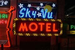 Sky Vu Motel Sign (trekkie313) Tags: americana america advertising neonsign neon sign sky lightbulbs stars history cincinnati museum 1950s lights ohio text