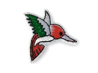 Bird Patch KOLIBRI bunt, Aufbügler, Bügelbild, ca.60mm