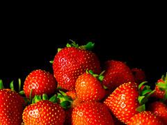 Strawberries (Andy Sut) Tags: fruit stilllife food raw dessert macro studio kitchen justfruitseries strawberries andysutton edible eating dining lumix bridgecamera amateur homestudio studiolighting still