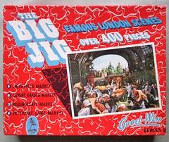 Smithfield Market box lid (pefkosmad) Tags: jigsaw puzzle hobby pastime leisure vintage cardboard goodwin famouslondonscenes thebigjig secondhand complete smithfieldmarket meatmarket wholesale scene box lid