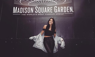 Madison Beer at MSG for the New York Knicks
