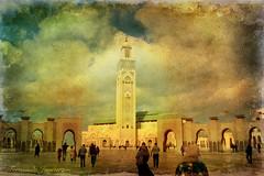 Mezquita Hasan II (alanchanflor) Tags: canon textura color casablanca mezquita minarete marruecos islam musulman hasan fieles rezar