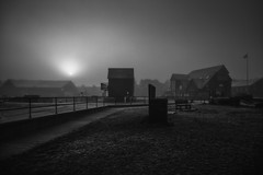 the dawn of a new day....Whitstable (stocks photography.) Tags: michaelmarsh whitstable harbour bw photography coast seaside photographer