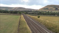 UID Class 185 heads away from Edale with the 1B78 Manchester Airport to Cleethorpes, 9th Aug 2018. (Dave Wragg) Tags: class185 desiro 1b78 tpe firsttranspennineexpress dmu railcar edale valeofedale hopevalleyline railway derbyshire