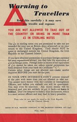 Warning to Travellers (Living in Dorset) Tags: warningtotravellers exchangecontrolact sterling 1947 1950 warning