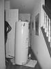 Tankful (LeftCoastKenny) Tags: utata thursdaywalk hall water heater doors stairs utata:description=hide utata:project=tw635 bw blackwhite utata:project=doors