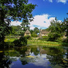 Beautiful garden reflection (Oxford Murray) Tags: wiltshire oxfordmurray reflection sunny summerafternoon nationaltrust medieval picturesque peaceful garden beautiful heritage greatchalfield