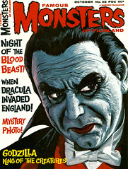 Famous Monsters #35 (1965), cover by Vic Prezio (gameraboy) Tags: vintage famousmonsters 35 1965 cover vicprezio 1960s art dracula
