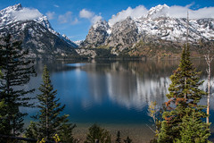 Tetons in the Fall... (jaegemt1) Tags: grand teton national park wyoming landscape mariajaegerphotography jaegemt1 reflection reflections peace peaceful snow autumn fall nature nationalpark magical