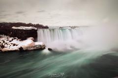Niagara falls (marinas8) Tags: nikon d5300 niagarafalls sky clouds falls water usa canada photography landscape waterfall rock longexposure snow