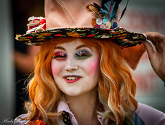 Bridgnorth Carnival-357 (Darbs66) Tags: bridgnorth bridgnorthcarnival d500 carnival candid costume mad hatter girl hat