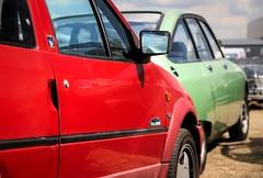 Citroën AX 1.1i Volcane / GSX (Skylark92) Tags: citroën water forest boat sky grass gelderland maurik van eiland window windshield tree building car road citroen jaar 100 holland netherlands nederland vehicle kenteken nederlands origineel onk lfjg33 1995 volcane 11i ax gs gsx 75hkh4 1978